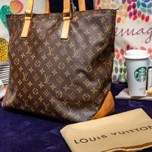 LOUIS VUITTON Cabas Mezzo (MM) Shoulder Bag